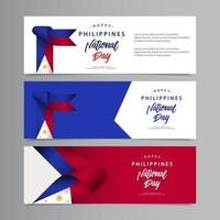 Happy Philippines National Day Celebration Creative Design Vector Template Design Illustration