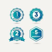 Year Warranty Logo Icon Vector Template Design Illustration