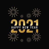 Feliz año nuevo 2021 ilustración de diseño de plantilla de vector