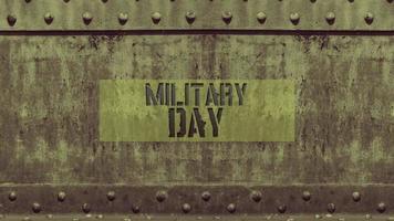 animationstext militär dag på militär bakgrund