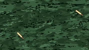 animation fall beskyddare på militär bakgrund