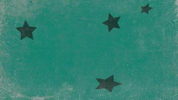 beweging abstracte groene sterren, kleurrijke grunge achtergrond video