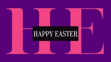 texte d'animation joyeuses pâques sur fond violet mode et minimalisme video