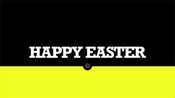 texto de animação feliz páscoa em fundo de moda negra e minimalismo com listras geométricas video