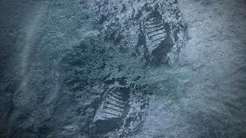 closeup neve e movimento flocos de neve fundo cinematográfico de inverno
