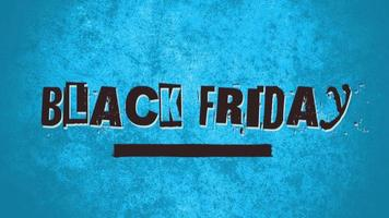 animatie intro tekst zwarte vrijdag op blauwe hipster en grunge achtergrond