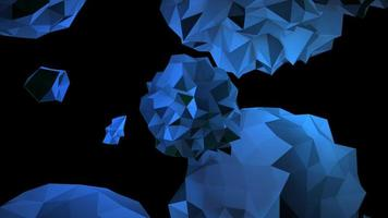 animação abstrato orbe líquido azul no cosmos, fundo preto video