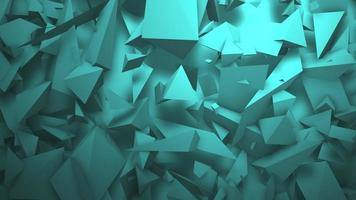beweging groene geometrische vormen, abstracte achtergrond video