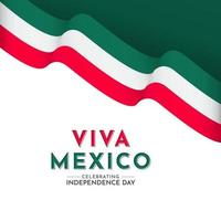 Happy Mexico Independence Day Celebration Vector Template Design Logo Illustration