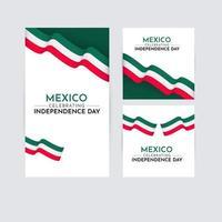Feliz día de la independencia de México celebración vector plantilla diseño logo ilustración