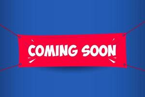 Coming Soon Banner Vector Template Design Illustration