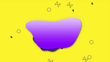 Bewegung abstrakte geometrische Formen, bunter flüssiger Hintergrund