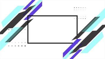 beweging abstracte geometrische vormen, kleurrijke vloeibare achtergrond video