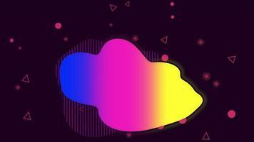 beweging kleine geometrische vormen, kleurrijke memphis abstracte achtergrond video