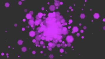 animation mouche abstrait violet bokeh et particules sur fond brillant bonne année et thème joyeux noël