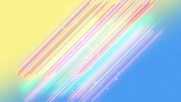 Animación líneas abstractas de neón amarillo y azul, fondo de discoteca de movimiento video