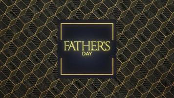 Animationstext Vatertag auf schwarzem Mode- und Minimalismushintergrund mit Goldformen video