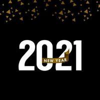 feliz año nuevo 2021 celebración vector plantilla diseño ilustración
