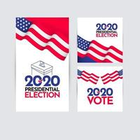 Presidential Election 2020 United States Vector Template Design Illustration