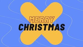 animação texto de introdução feliz natal na moda e plano de fundo do clube com cruz gradiente video