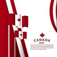 Happy Canada Day Celebration Vector Template Design Illustration