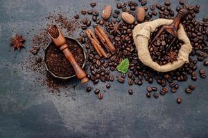 café tostado aromatizado foto
