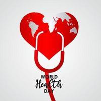 Ilustración de diseño de plantilla de vector de celebración del día mundial de la salud