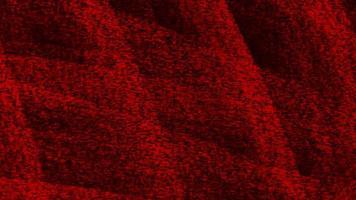 beweging abstracte geometrische rode stippen en lijnen, zwarte textielachtergrond
