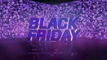 animação intro text black friday e motion purple disco lights, abstract background