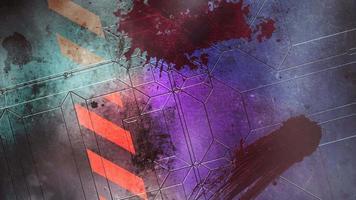 animação fundo de terror místico com sangue escuro na parede video