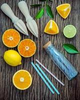 jugo de cítricos fresco foto