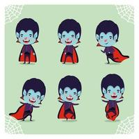 boy in a vampire costume set