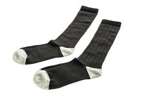 Calcetines de algodón sobre fondo blanco. foto