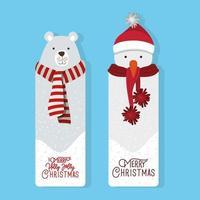 Feliz Navidad conjunto de etiquetas vector