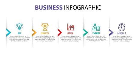 business infographic element template, step process template vector