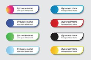social media lower third set collection vector