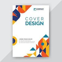 abstract geometric cover design vector