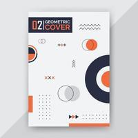 abstract memphis cover design vector
