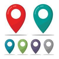 pin location icon symbol collection