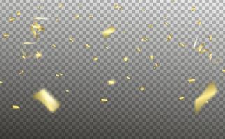Confetti elements falling vector