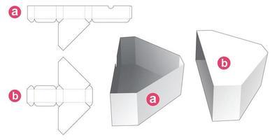 plantilla troquelada de caja en forma de diamante deslizante vector