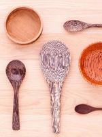 Wooden spoons and bowls