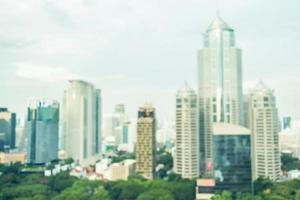 Fondo de la ciudad de bangkok desenfocado abstracto foto