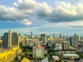 Abstract defocused Bangkok city background photo