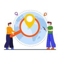 Local Search Engine Optimization concept vector