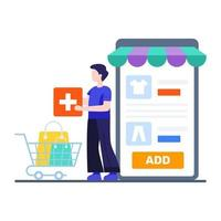 Add to Cart Concept vector