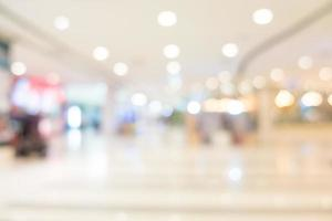 Defocused shopping mall interior photo