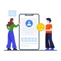 concepto de experiencia de usuario móvil vector