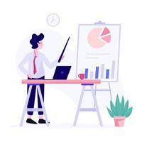 concepto de gerente ejecutivo masculino vector