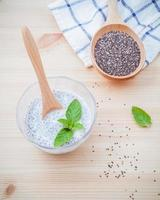 Chia seeds and paste